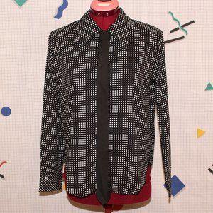 Hurley black polka dots shirt with tie